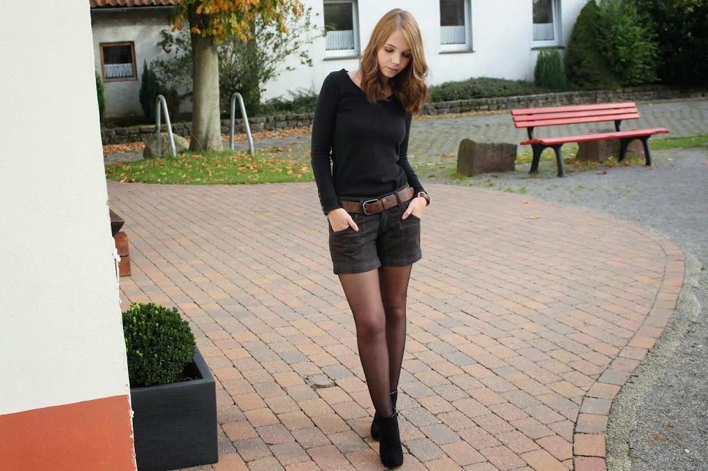 strumpfhose und shorts