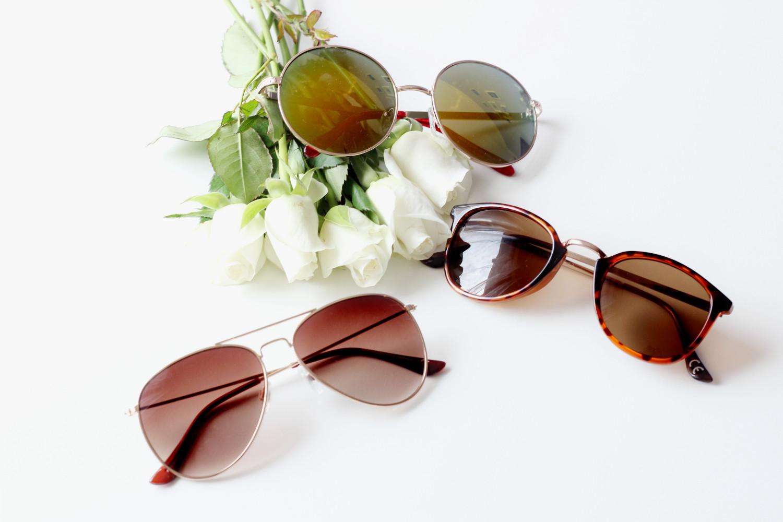 bezaubernde nana, fashionblog, modeblog, beautyblog, germany, sonnenbrillen, runde sonnebrille von new look, hollywood sonnenbrille von cheapasssunglasses. pilotenbrille von h&m