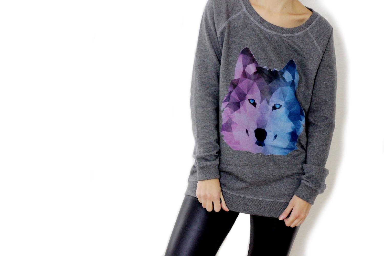 bezaubernde nana, bezauberndenana.de, fashionblog, modeblog, germany, deutschland, Mode und Kunst, styleart, shirt mit wolf print, styleart sweatshirt