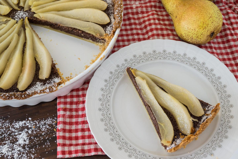 Gastbeitrag: Birnen-Tarte auf Schoko-Mandel