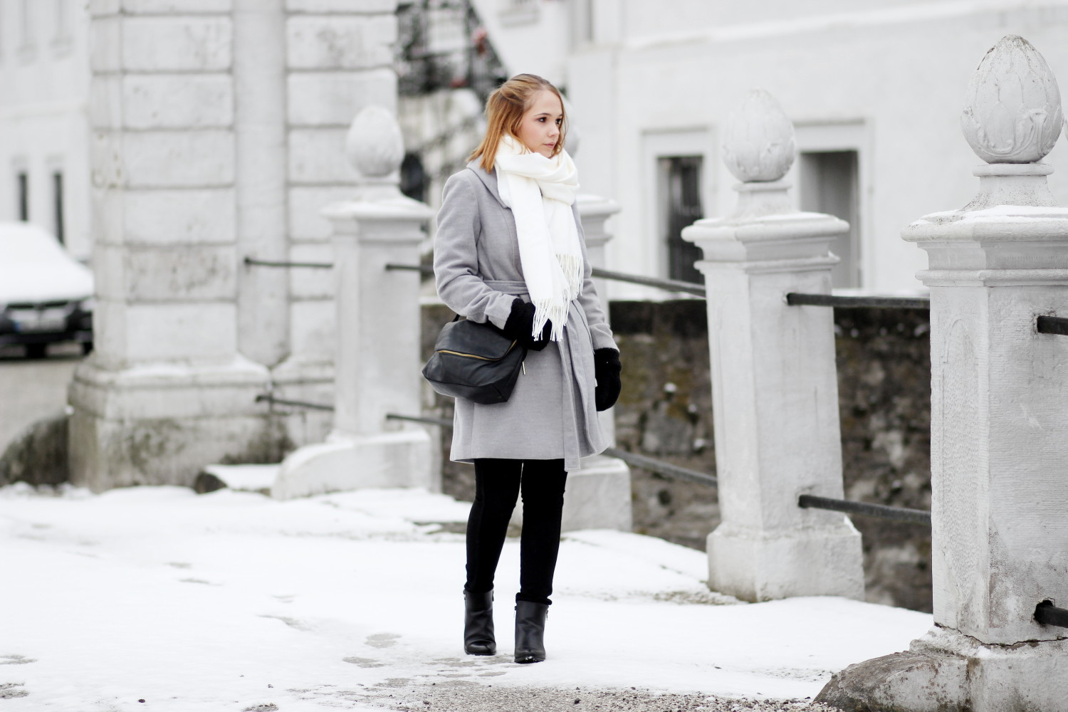 Basic outfit f r den winter grauer mantel skinny jeans for Minimalismus blog