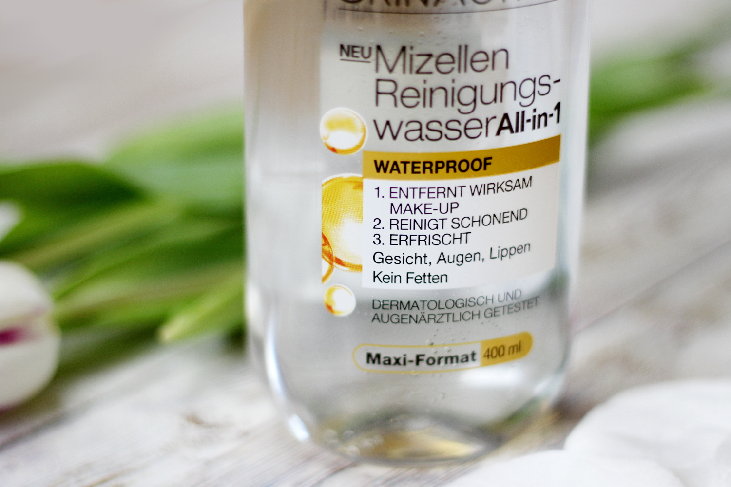 Garnier Mizellen Reinigungswasser All-in-1 Waterproof, Review, Test, Erfahrungsbericht, Beauty, Gesichtsreinigung, Bezaubernde Nana, bezauberndenana.de, Beautyblog