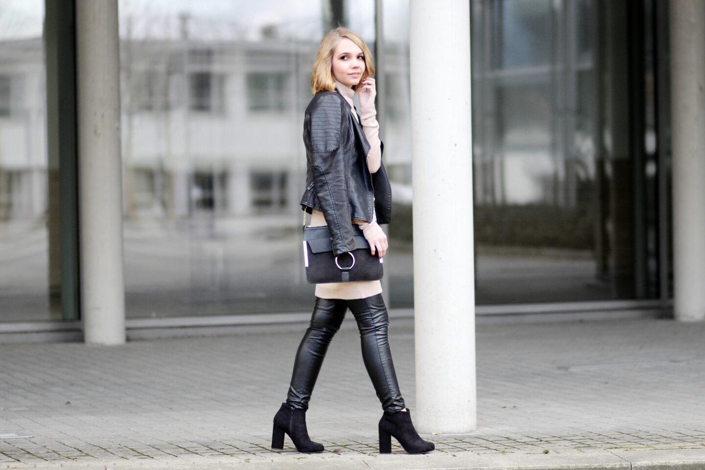 Fashion Blogger Lederleggings Style
