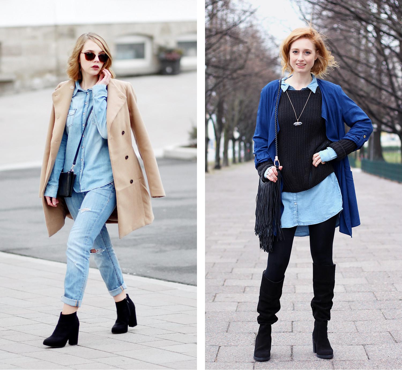 Bezaubernde Nana, bezauberndenana.de, Fashionblog, Denim Lookbook, Denim Trends 2016, Jeans Outfits, Jeanshemd, Jeanskleid, Advance Your Style, advance-your-style.de