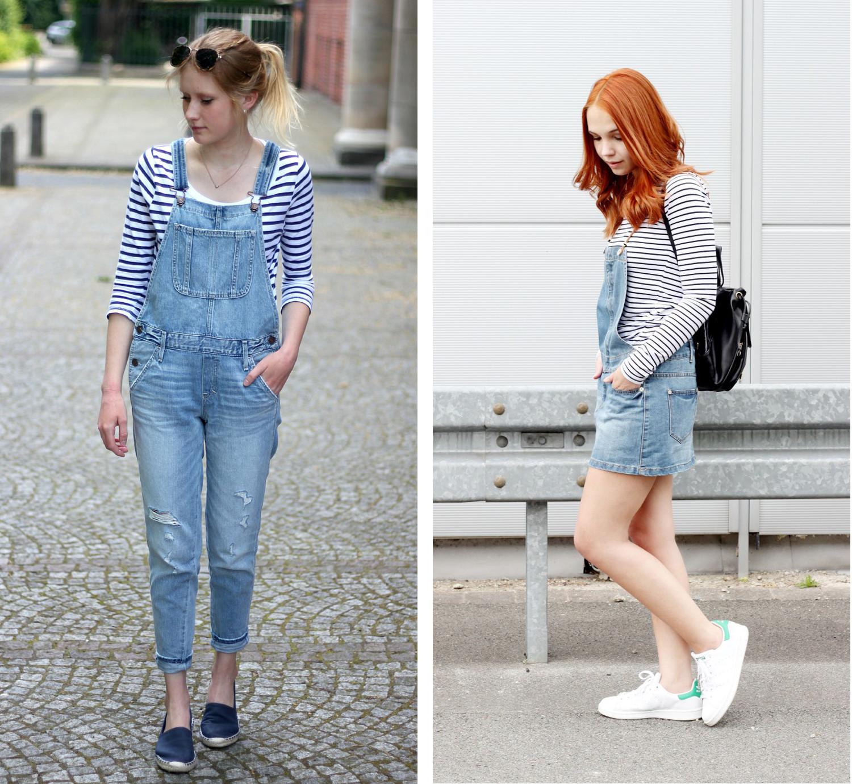 Bezaubernde Nana, bezauberndenana.de, Fashionblog, Denim Lookbook, Denim Trends 2016, Jeans Outfits, Jeans Latzhose, Jeans Latzrock, Katiys, katiys.com