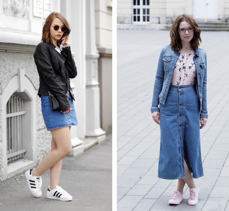 Bezaubernde Nana, bezauberndenana.de, Fashionblog, Denim Lookbook, Denim Trends 2016, Jeans Outfits, Jeans Rock, Adeline & Gustav, adelineundgustav.com