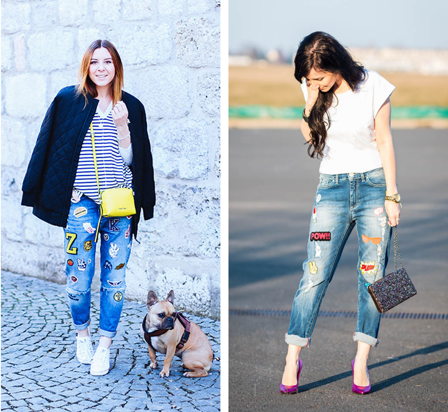 Bezaubernde Nana, bezauberndenana.de, Fashionblog, Denim Lookbook, Denim Trends 2016, Jeans Outfits, Jeans Latzhose, Jeans mit Patches, who is mocca?, whoismocca.com, Julies Dresscode, juliesdresscode.de