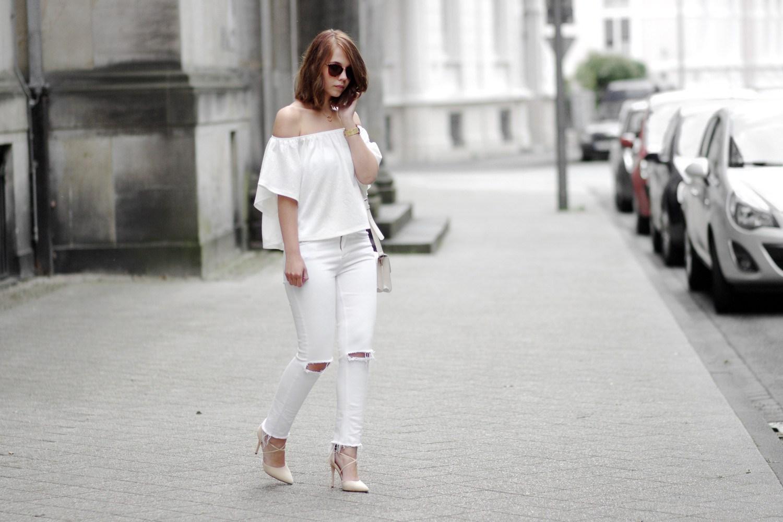 Bezaubernde Nana, bezauberndenana.de, Outfits für kühle Sommertage, Lookbook, All White