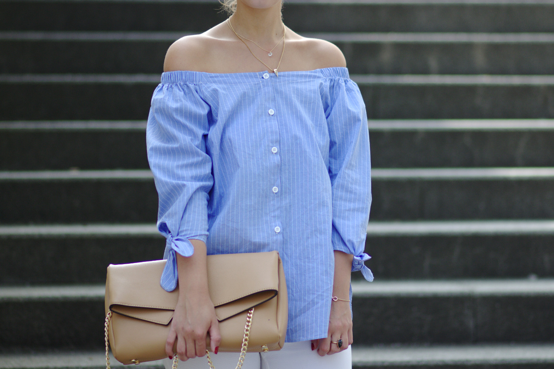 Bezaubernde Nana, bezauberndenana.de, Monatsrückblick, Favoriten Juli 2016, Mode, Off Shoulder Bluse JustFab