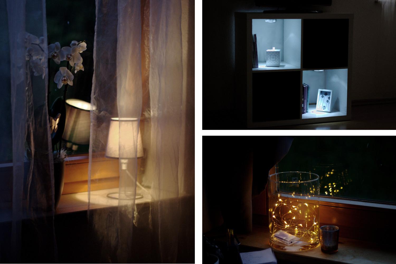 Bezaubernde Nana, bezauberndenana.de, Einrichtungstipps für wenig Geld, Wohnen, Einrichtung, Interior, Dekoration, indirekte Lichtquellen, LEDs