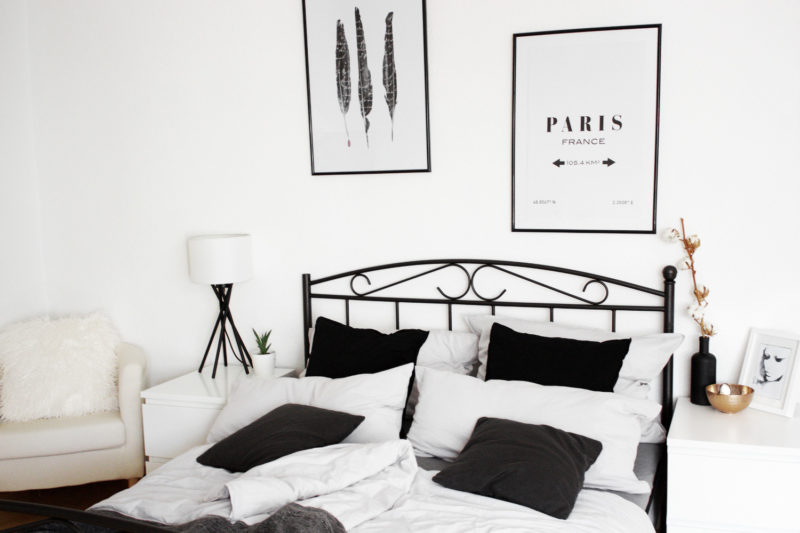homestory schlafzimmer einrichtung mein bett bezaubernde nana. Black Bedroom Furniture Sets. Home Design Ideas