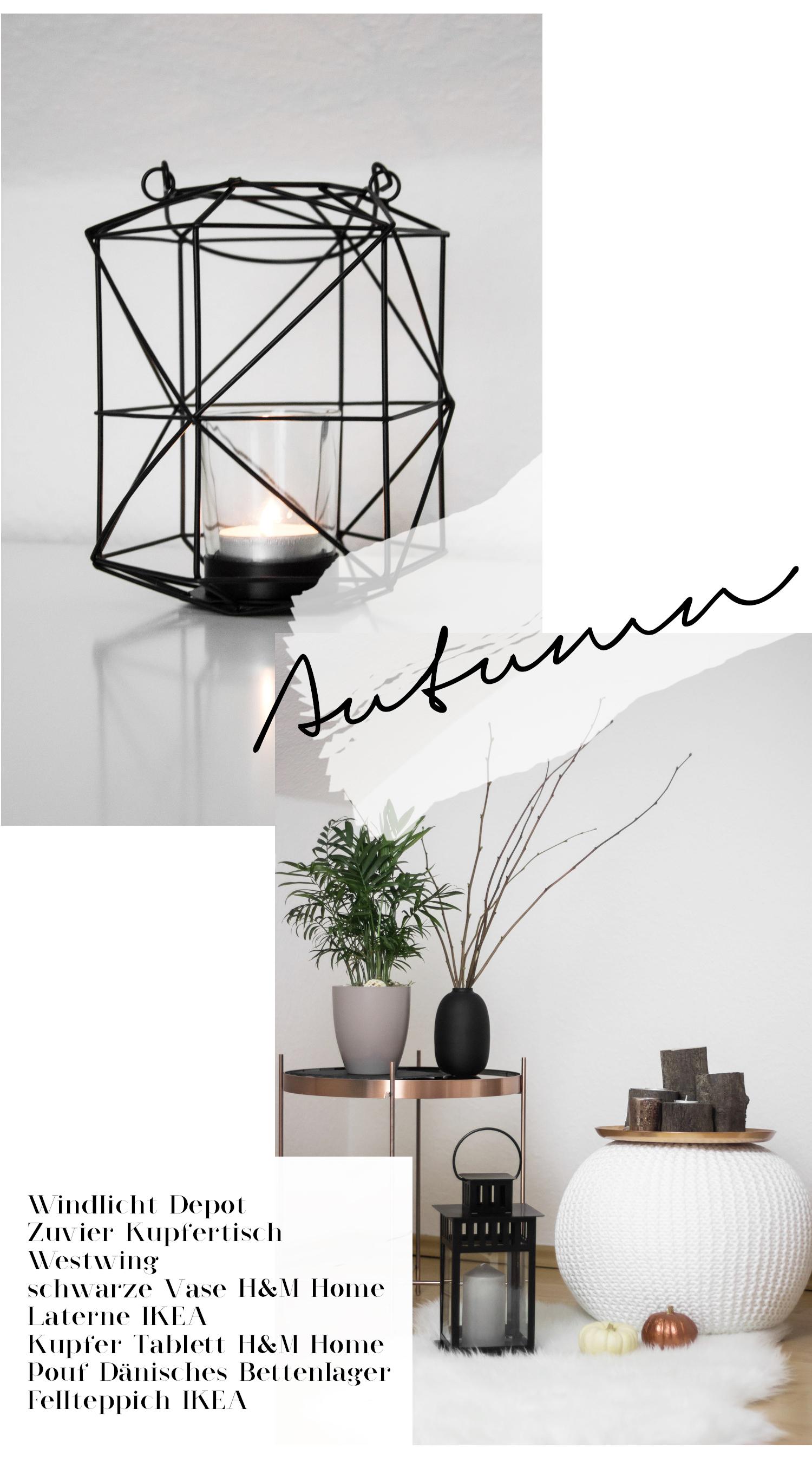 herbst dekoration einrichtung wohnen minimal interior schlafzimmer schwarz weiss bezauberndenana. Black Bedroom Furniture Sets. Home Design Ideas