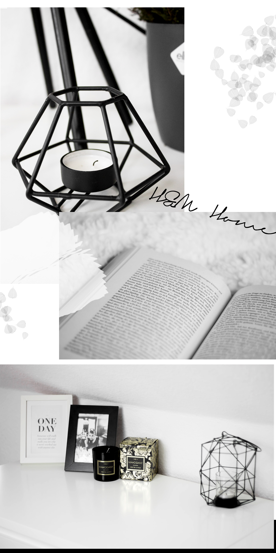 Herbst Dekoration, Einrichtung, Minimal Interior, schwarz-weiß, Schlafzimmer, Wohnen, bezauberndenana.de