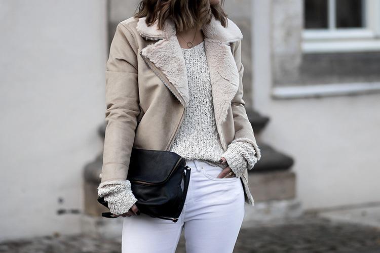 Mode Must Haves für den Winter, Shearling Jacken, Lammfell Bikerjacke aus Wildleder, bezauberndenana.de