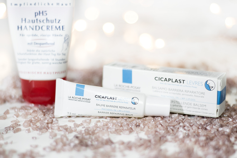 Winter Beauty Must Haves, Kosmetik, La Roche-Posay Cicaplast Lippenbalsam, eucerin pH5 Hautschutz Handcreme, bezauberndenana.de