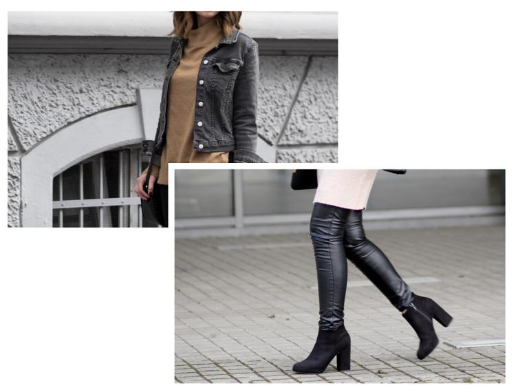 Meine wahren Mode Favoriten 2016, schwarze Lederleggings von H&M, brauner Strickpullover von Gina Tricot, bezauberndenana.de