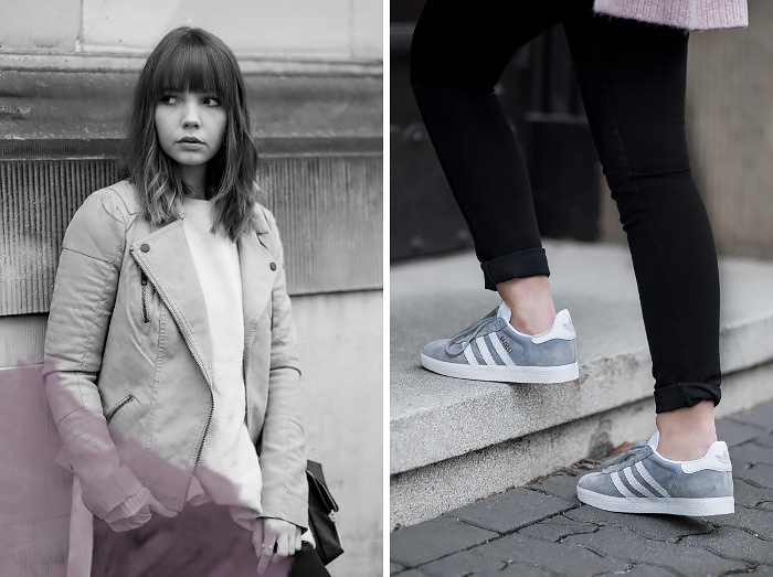 lässiges-outfit-mit-grauer-lederjacke-about-you-rosa-strickpullover-adidas-gazelle-sneaker-übergangsjacke-casual-streetstyle-bezauberndenana (5)