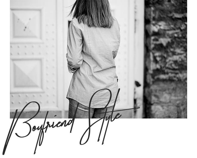 Boyfriend Style, Männer Hemd kombinieren, Streetstyle, Boyfriend Jeans, graue Fransen Heels, bezauberndenana.de