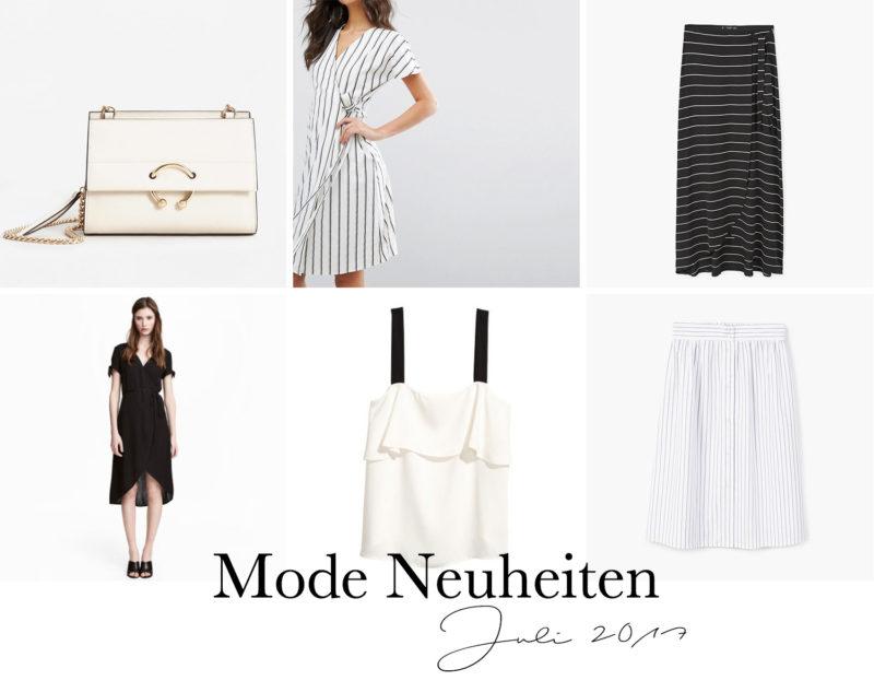 Juli Favoriten 2017, Monatsrückblick, Mode Neuheiten, Asos Wickelkleid, H&M Volant Top, Mango Tasche, Streifen Rock, bezauberndenana.de