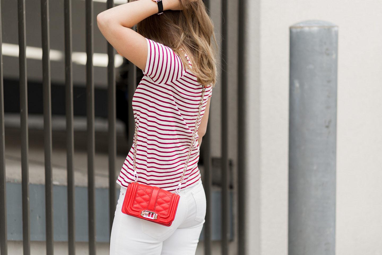 Spätsommer Outfit in Rot und Weiß