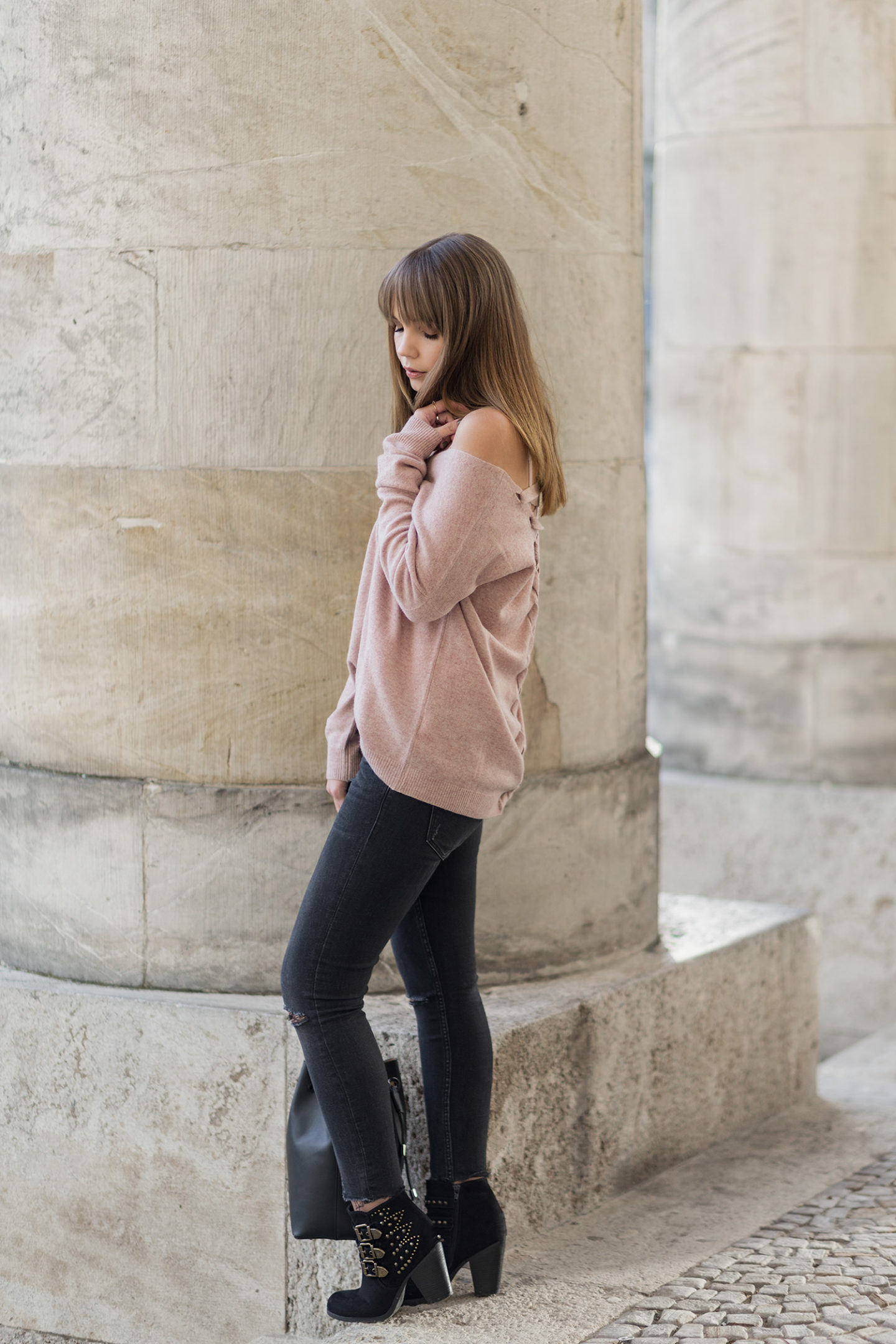 Rosa Kaschmir Pullover Cashmere Repeat Herbst Outfit Trend BoxdeCr