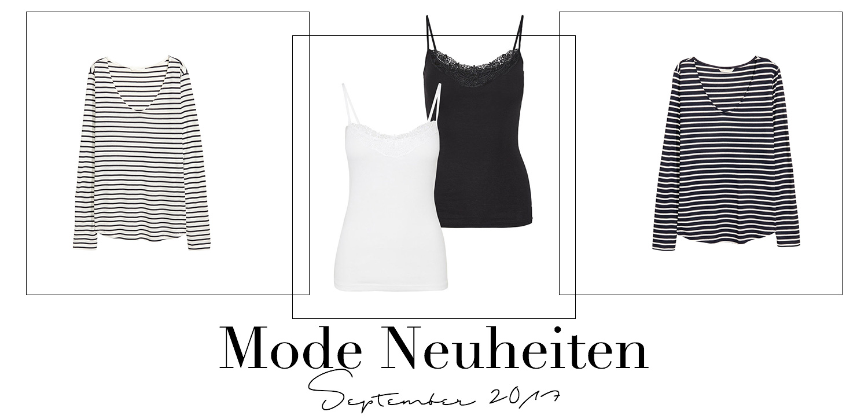 September Favoriten 2017, Monatsrückblick, Mode Neuheiten, H&M Streifen Shirts, Vero Moda Spitzen Top, bezauberndenana.de