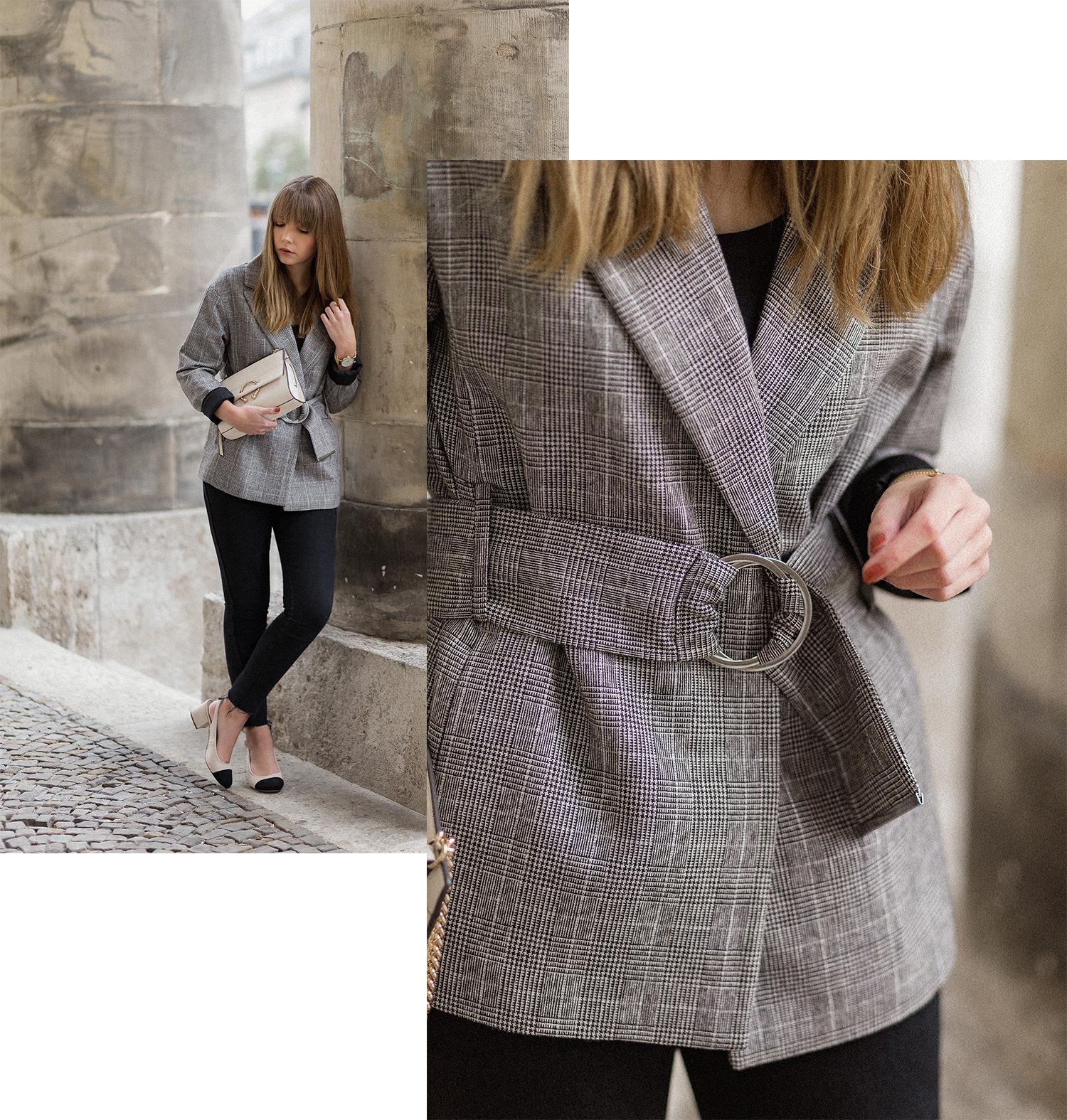 Glencheck Karo Muster, Herbst Trend 2017, karierter Blazer Outfit, bezauberndenana.de