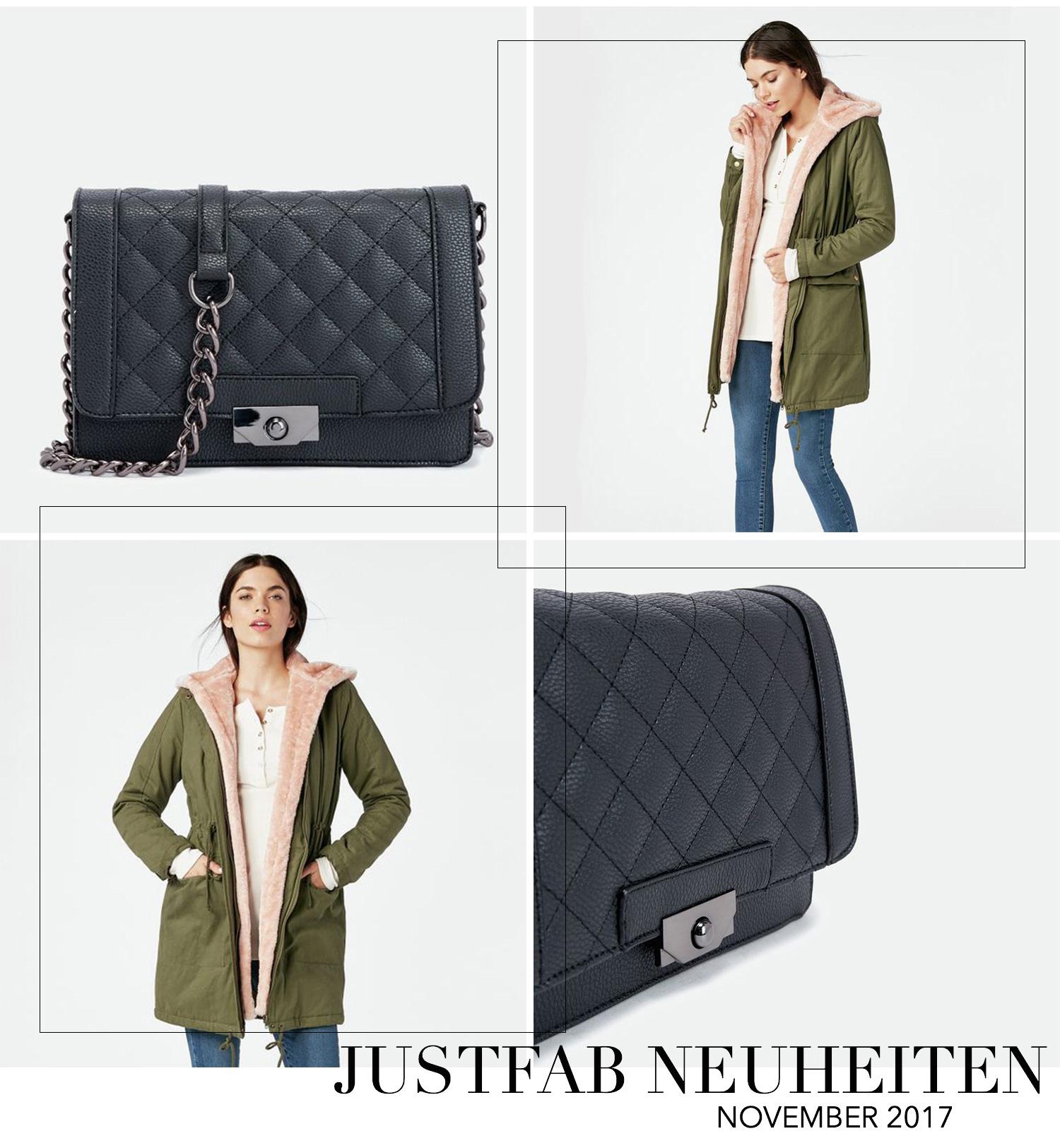 November Favoriten 2017, Monatsrückblick, JustFab Neuheiten, Talon Handtasche, Khaki Parka mit rosa Fell, bezauberndenana.de