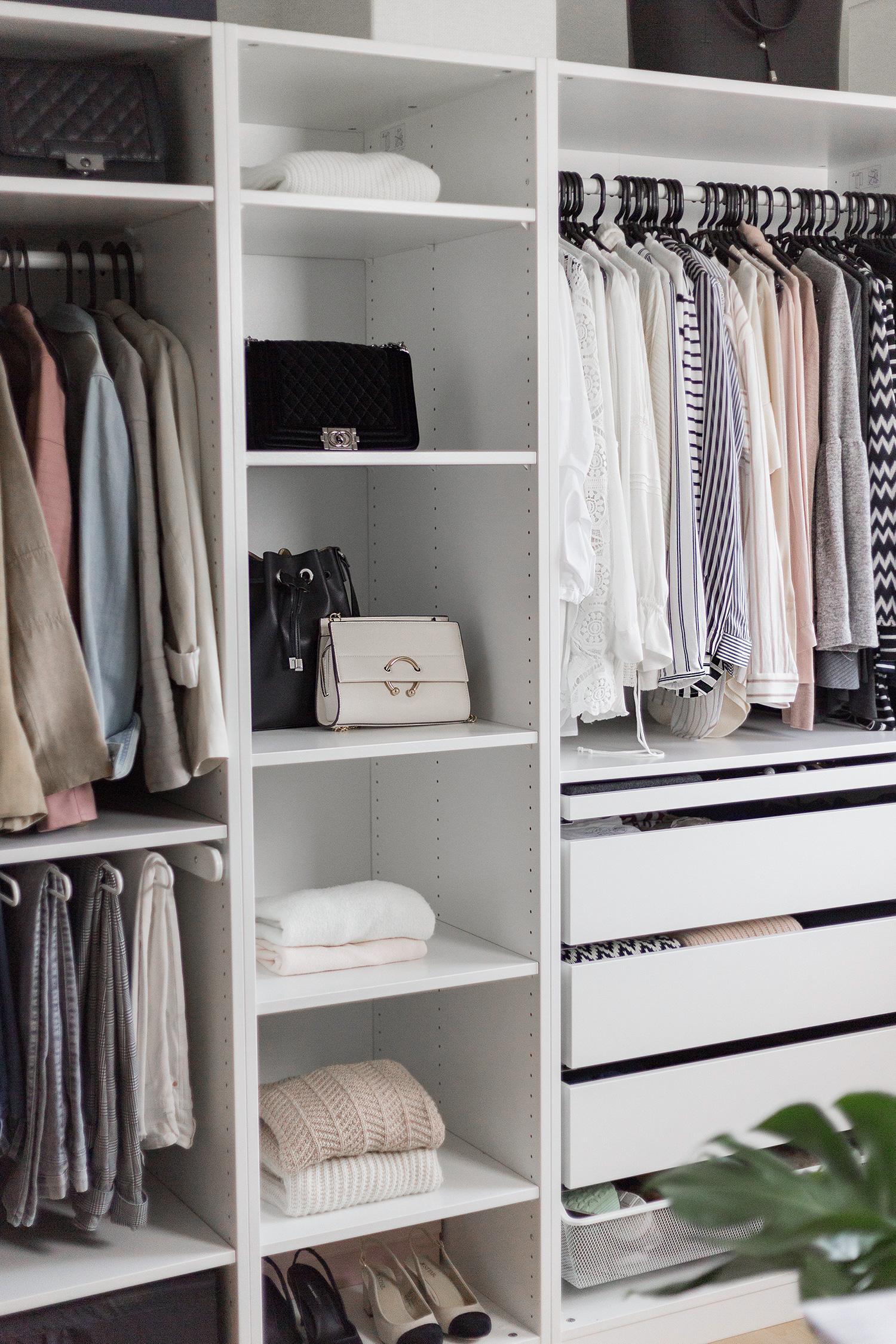 Kleiderschrank aufräumen, Tipps, Ordnungsmethoden, Kleidung ausmisten, Ankleidezimmer, bezauberndenana.de