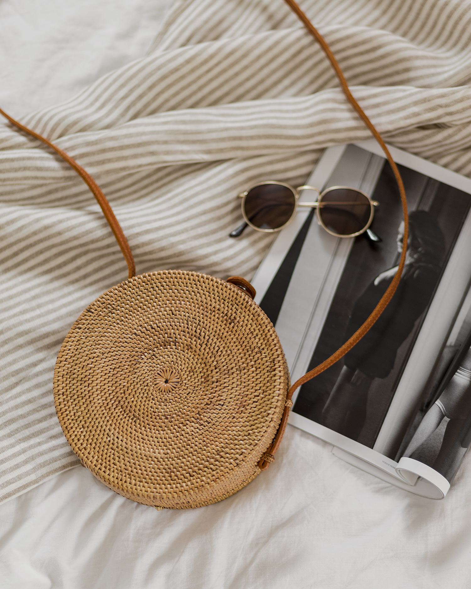 Juni Favoriten 2018, Monatsrückblick, Mode Neuheiten, runde Korbtasche von Hey Bali, bezauberndenana.de