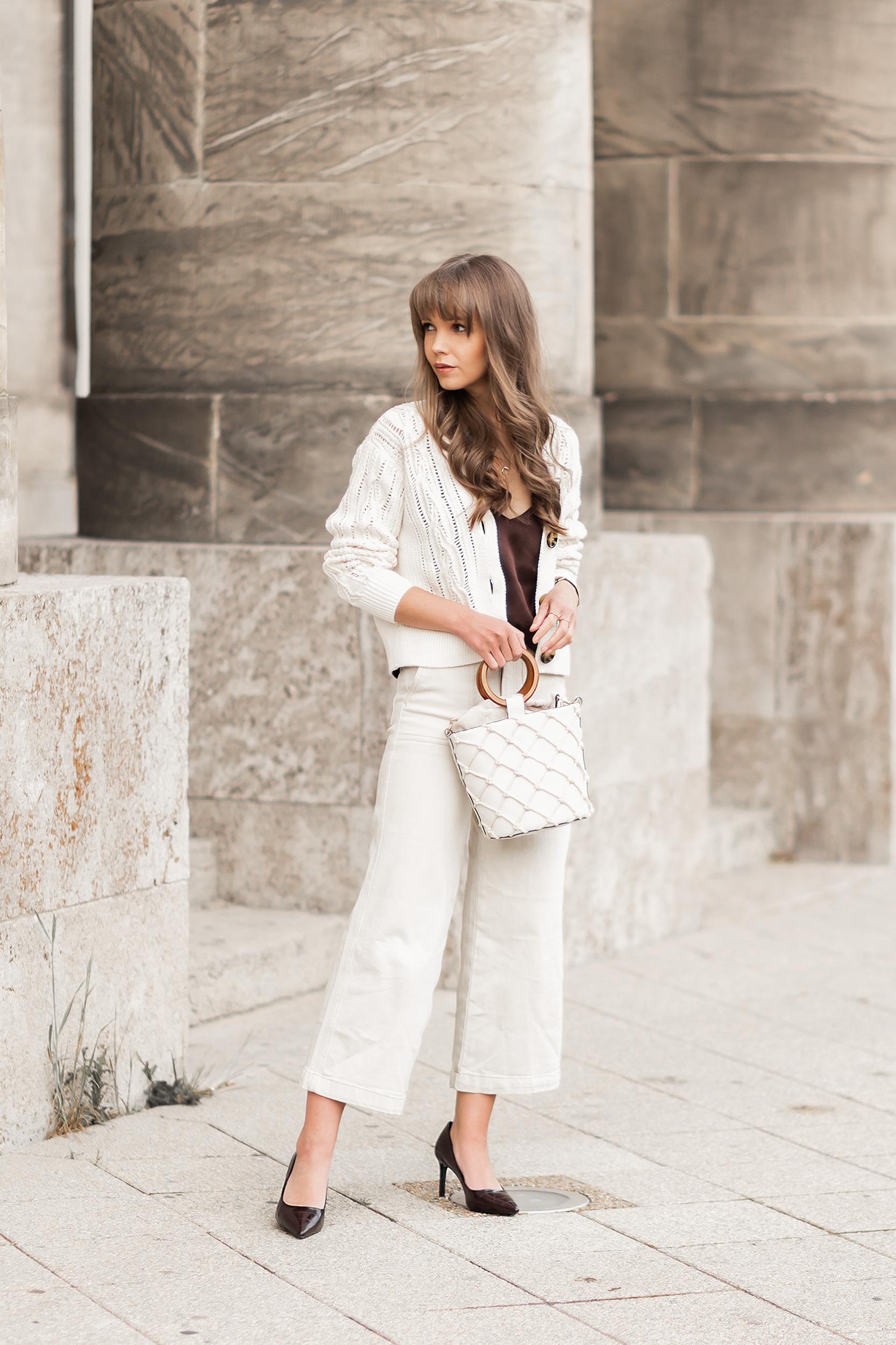 Cardigans im Frühling stylen, Modetrend 2020, Granny Cardigans, Styling-Tipps für Cardigans, Jeans Culotte, bezauberndenana.de
