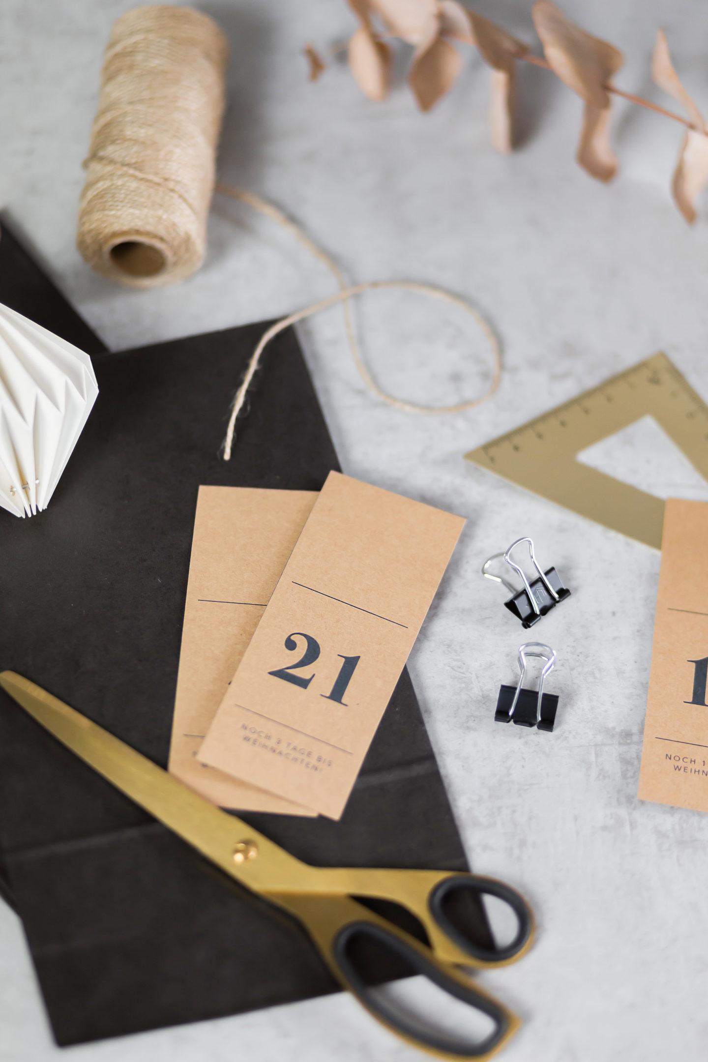 Schneller DIY Adventskalender basteln, schlichter Adventskalender aus Papiertüten, selbstgerechter Adventskalender, Adventskalender Ideen für Erwachsene, Adventskalender Ideen für Männer, Adventskalender Ideen für Frauen, bezauberndenana