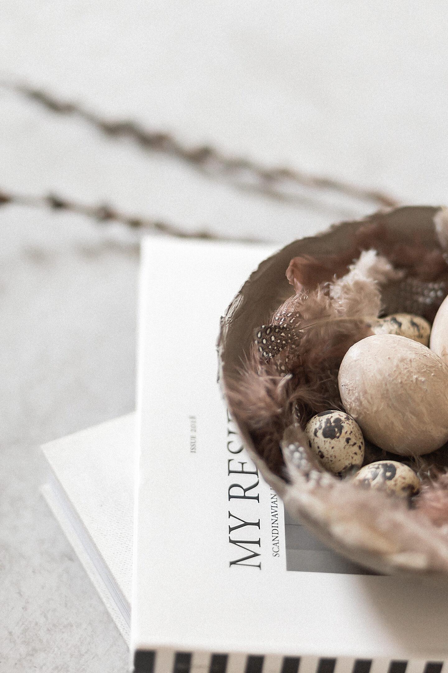 DIY Schale aus Pappmaché, Osterdeko, Schale aus Papier selber machen, bezauberndenana