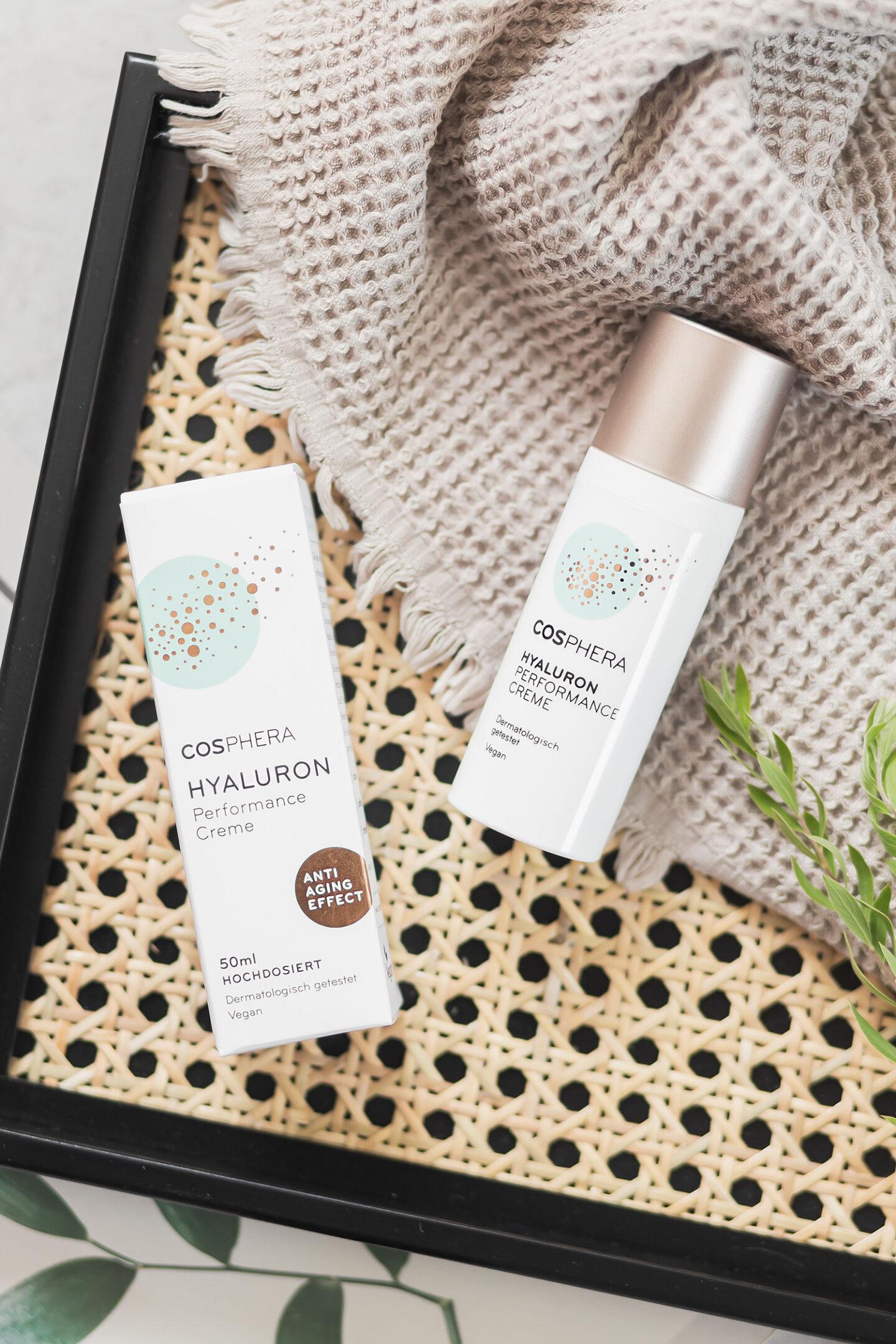 Cosphera Hautpflege im Test, Hylauron Performance Creme, vegan und natürliche Hautpflege, Hautpflege im Sommer, Cosphera Erfahrungen, Bezaubernde Nana